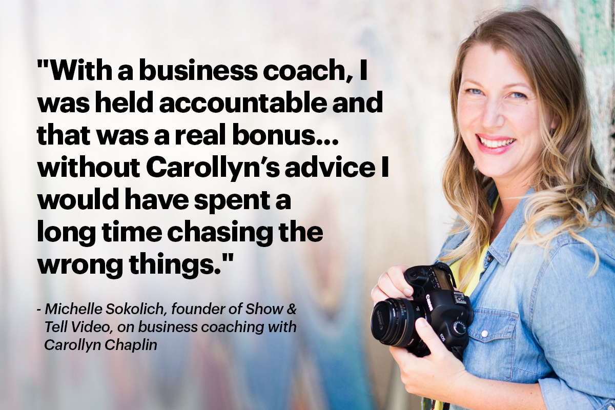 Michelle Sokolich Show and Tell Video Coaching
