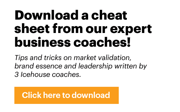 Download a cheat sheet from The Icehouse Business Coaches!